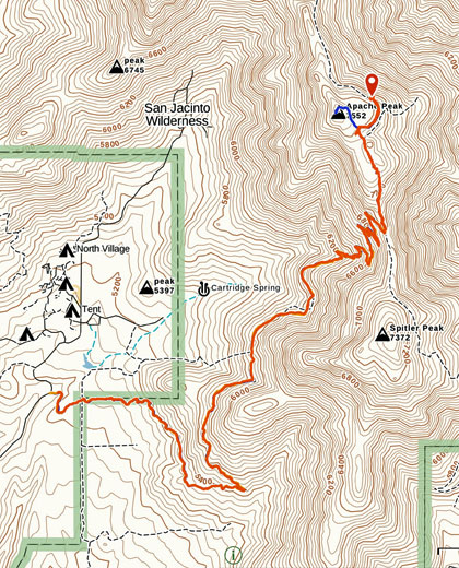 Trail and Subject Location