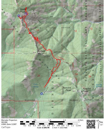 Map South Peak